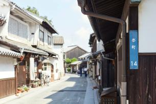 倉敷美観地区の本町通りの写真素材 [FYI02675847]