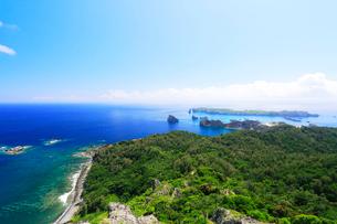 小笠原諸島父島・展望台より南島方向を望むの写真素材 [FYI02675967]
