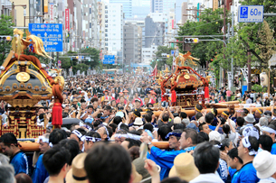 深川八幡祭りの写真素材 [FYI02675980]