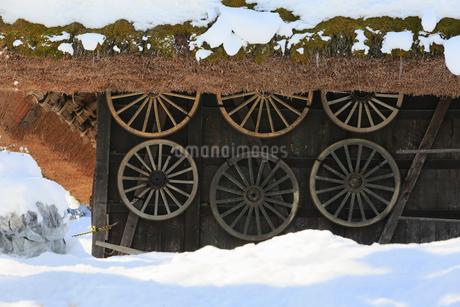 雪景色の飛騨の里の写真素材 [FYI02675995]