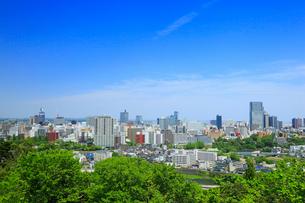 仙台城跡から望む市街の写真素材 [FYI02676104]