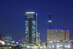 名古屋 ささしまライブ24地区夜景の写真素材 [FYI02676184]