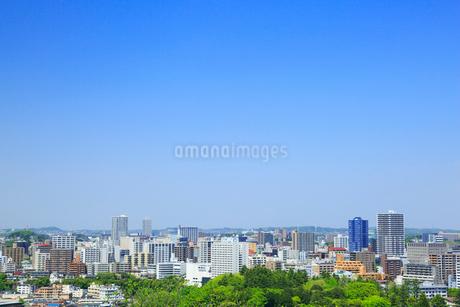 仙台城跡から望む市街の写真素材 [FYI02676195]