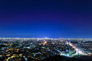 名古屋の街明かり 夜景の写真素材 [FYI02676199]