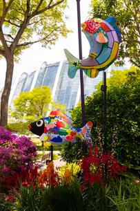 ガーデンズバイザベイの春節飾りの写真素材 [FYI02676223]