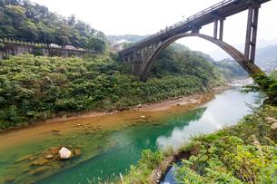 台湾、ホウトン、運煤橋の写真素材 [FYI02676230]