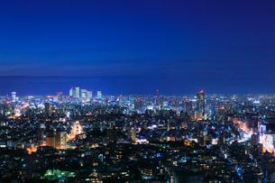 名古屋の街明かり 夜景の写真素材 [FYI02676303]