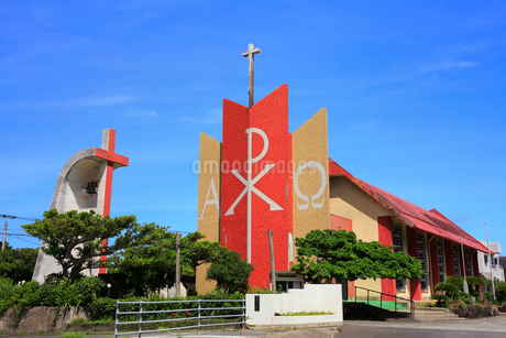 奄美大島 大笠利教会の写真素材 [FYI02676330]