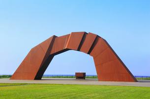 納沙布岬 望郷の岬公園に立つ四島のかけはしの写真素材 [FYI02676441]