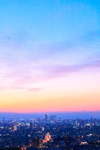 名古屋の町並み夕景の写真素材 [FYI02676449]