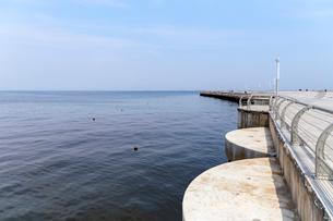 大連港の展望所から望む黄海の写真素材 [FYI02676893]