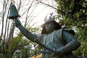 三光神社 真田幸村公の像の写真素材 [FYI02676956]
