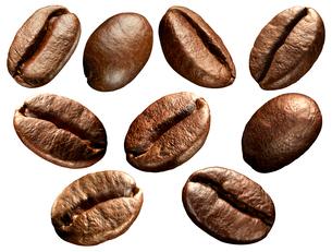 コーヒー豆素材の写真素材 [FYI02677149]