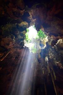カオ・ルアン洞窟寺院 木もれ日の写真素材 [FYI02677204]