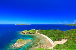 小笠原諸島母島 小富士より望む南崎と向島の写真素材 [FYI02677268]