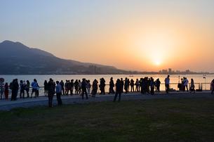 台湾淡水の夕日の写真素材 [FYI02677344]