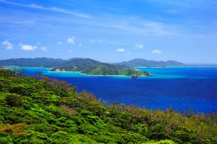 奄美大島 蒲生崎観光公園から望む笠利湾の写真素材 [FYI02677405]