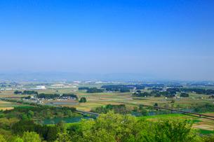 胡四王山から望む花巻市街の写真素材 [FYI02677864]