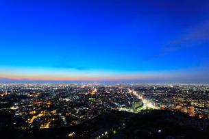名古屋の街明かり 夜景の写真素材 [FYI02677871]
