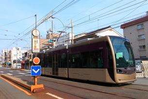 阪堺電車 帝塚山三丁目停留場の写真素材 [FYI02677957]
