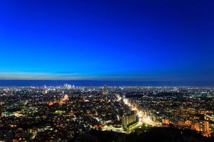 名古屋の街明かり 夜景の写真素材 [FYI02678089]