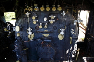 多賀SLパーク跡 SLの運転室の写真素材 [FYI02678131]