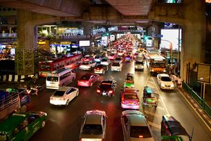 バンコックの渋滞の写真素材 [FYI02678315]