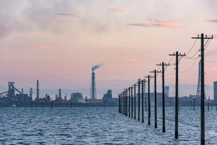 江川海岸 海中電柱の写真素材 [FYI02678362]