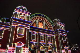 大阪市中央公会堂のプロジェクションマッピングの写真素材 [FYI02678387]
