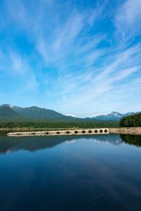 糠平湖のタウシュベツ橋梁の写真素材 [FYI02678638]