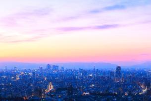 名古屋の町並み夕景の写真素材 [FYI02678678]