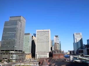 東京駅前広場と新マルビルの写真素材 [FYI02678752]