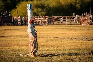 パタゴニアの牧童ガウチョの写真素材 [FYI02678875]