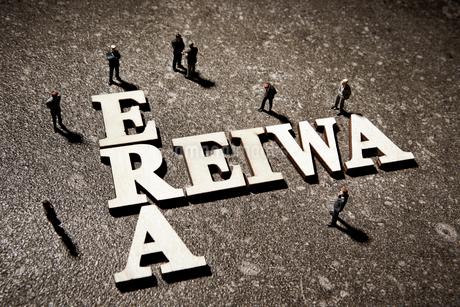 REIWAの文字とミニチュアの写真素材 [FYI02678964]