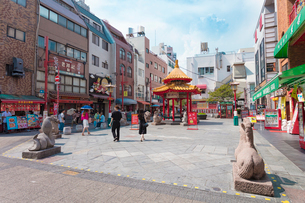 神戸南京町の写真素材 [FYI02678977]