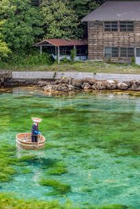 新潟県 佐渡島 小木のたらい舟の写真素材 [FYI02679008]