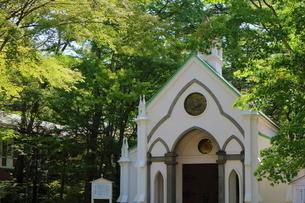 旧軽井沢の教会の写真素材 [FYI02679013]