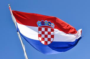 外国,クロアチア国旗の写真素材 [FYI02679056]