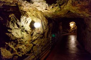 生野銀山の坑内の写真素材 [FYI02679216]