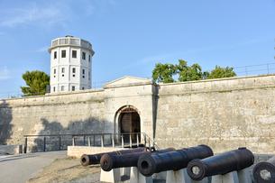 プーラ城と大砲の写真素材 [FYI02679286]