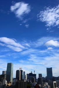 青空と港区の街並みの写真素材 [FYI02679552]