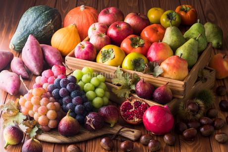 秋の野菜と果物の写真素材 [FYI02679909]