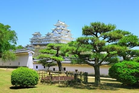 新緑の姫路城 西の丸庭園と天守群の写真素材 [FYI02681006]