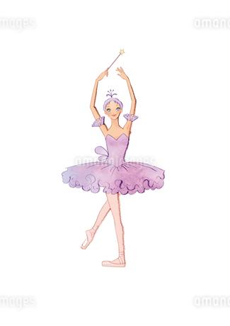 バレエ「眠りの森の美女」リラの精を踊る女性のイラスト素材 [FYI02681339]