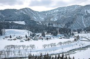 冬の本道寺地区の写真素材 [FYI02681350]