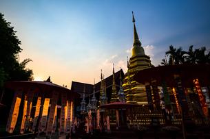 タイ チェンマイ 旧正月のワット・パンタオの写真素材 [FYI02681622]