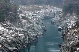 冬の大歩危峡の写真素材 [FYI02681905]
