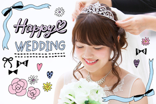 結婚式準備をする女性のイラスト素材 [FYI02682606]