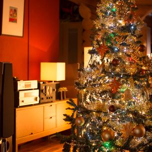 クリスマスツリーの飾ってある部屋の写真素材 [FYI02682938]