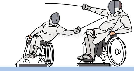 障害者スポーツ 車椅子フェンシングのイラスト素材 [FYI02683175]